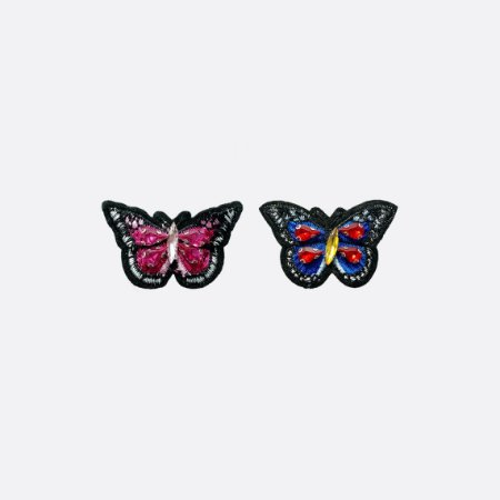Aplicação Pink & Blue Butterfly (G218)