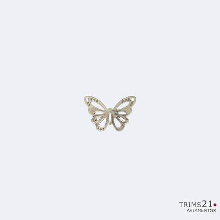 Aplicação metálica butterfly - Pacote com 10 peças  (K0134)