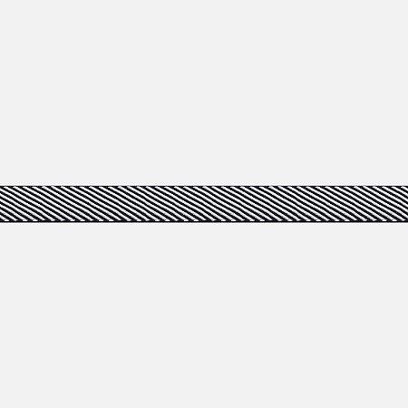 Fita Listrada Slim Black White H280 (Jarda)