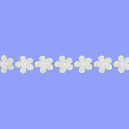 Fita Renda Branca Poliéster F029. (Jarda)