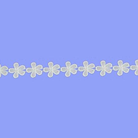 Fita Renda Branca Poliéster F029-1. (Jarda)