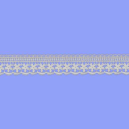 Renda Branca Poliéster F052. (Jarda)
