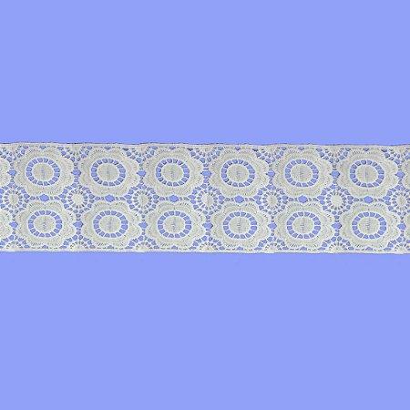 Renda Branca Poliéster F153. (Jarda)