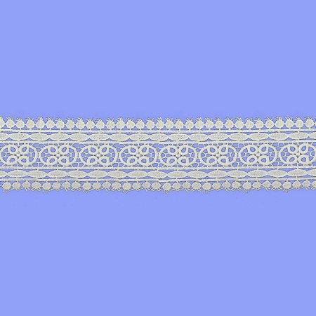 Renda Branca Poliéster RL-098. (Jarda)