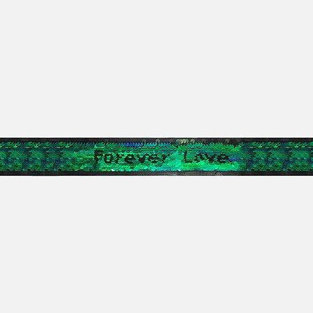 Fita Paetê Forever Love Y022 (Jarda)