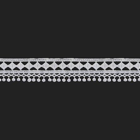 Renda Branca Poliéster F171 3,5cm. (Jarda)