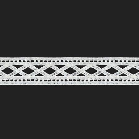 Renda Branca Poliéster F173 5cm. (Jarda)