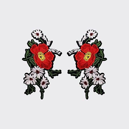 Aplicação Red Flower G142 (o par)