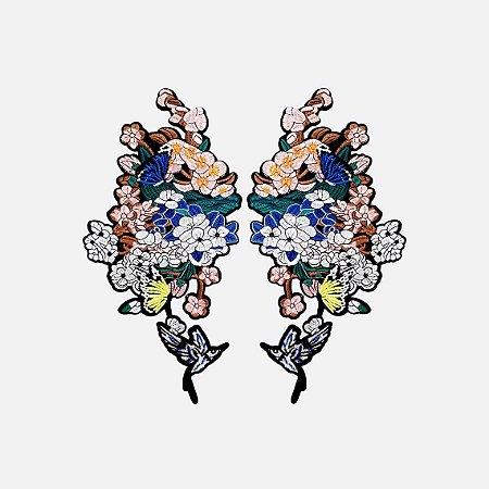 Aplicação Colorful Flower G145 (O par)