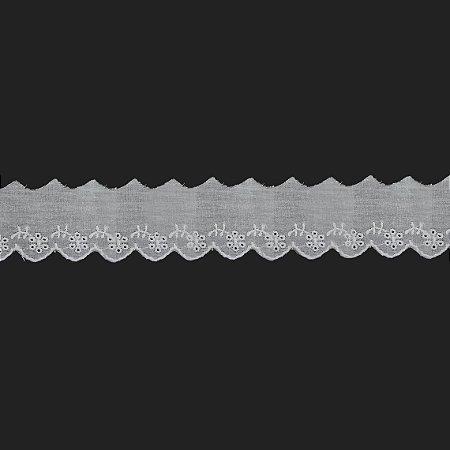 Laise Branca Poliéster RB-521. 5,5cm (Jarda)