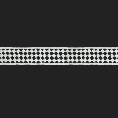 Fita Renda Branca Poliéster F026. 3,9cm