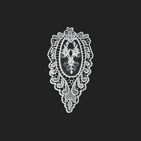 Renda Branca Poliéster 13-372-2. 13,5cm.