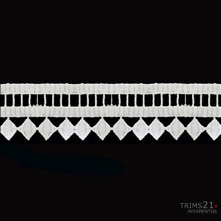 Renda Branca Poliéster T4-181- C