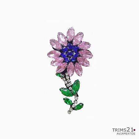 Aplicação Flower in stones (AS050)