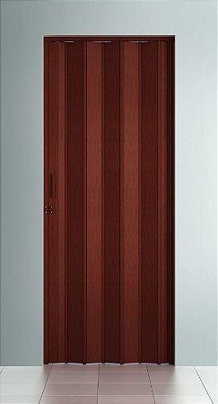 Porta Sanfonada Lisa Mogno com Trinco - BCF Plasticos - Esquadriplast