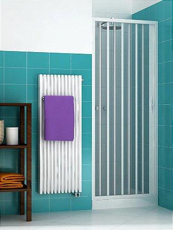 Box sanfonado para Banheiro largura de 131 cm até 145 cm x 1,85 altura Cor Branco - Largura 1,45 x 1,85 Altura