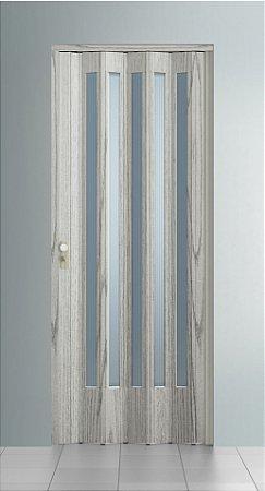 Porta Sanfonada Translucida  Pecan com trinco - BCF Plasticos - Esquadriplast