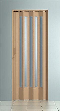 Porta Sanfonada Translucida Bege com Trinco - BCF Plasticos - Esquadriplast