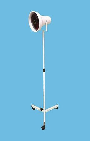 Suporte pedestal para lâmpada infravermelho com refletor móvel. altura 135 - Esquadriplast