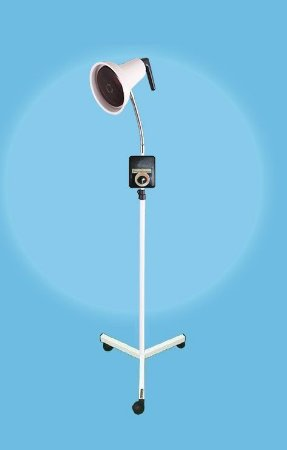 Suporte pedestal flexível para lâmpada infravermelho com refletor móvel e Dimer. ALT 135 - Esquadriplast