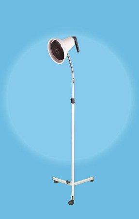 Suporte pedestal flexível para lâmpada infravermelho com refletor móvel e regulagem de altura (SEM DIMER) - Esquadriplast