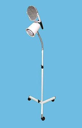 Foco multiuso com lâmpada led 50 W – com espelho e Haste flexível com regulagem de altura Esquadriplast