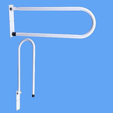 Barra de apoio articulada  em aço galvanizado tubo 1'' - 24 x 60 Esquadriplast