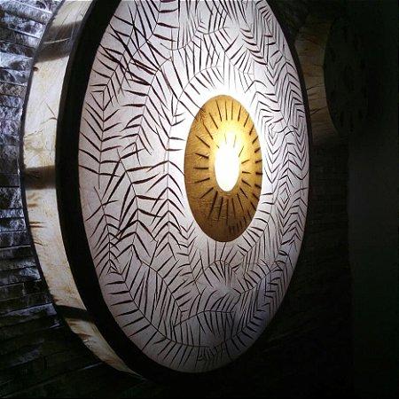 Luminária - Mandala 76 cm - artesanal elementos natureza