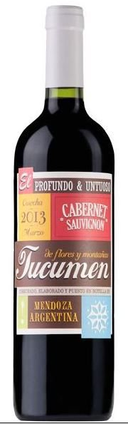 Vinho Tinto Argentino Tucumen - Cabernet Sauvignon  2018 750mL