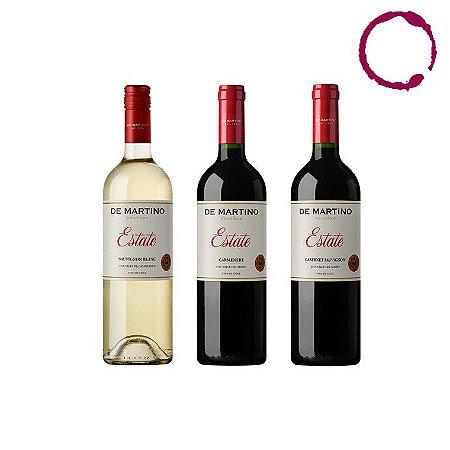 KIT CHILENO DE MARTINO  - Sauvignon Blanc, Carmenere e Cabernet Sauvignon