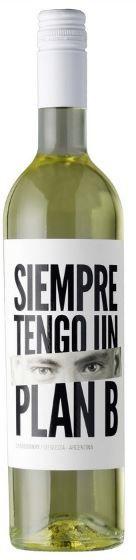 VINHO BRANCO ARGENTINO SIEMPRE TENGO UN PLAN B CHARDONNAY 2020 750ML