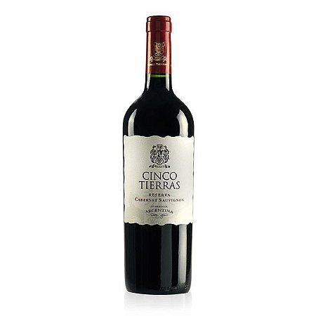 Vinho Cinco Tierras Reserva Cabernet Sauvignon 750ml Tinto Argentino
