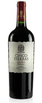 Vinho Tinto Argentino Cinco Tierras Reserva Malbec 750ml