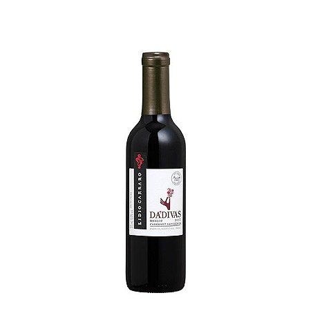 Vinho Tinto Brasileiro Lidio Carraro Dádivas Merlot Cabernet Sauvignon Meia Garrafa 375ml