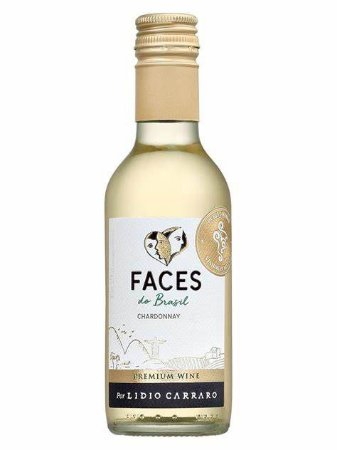 Vinho Branco Brasileiro Lidio Carraro Faces Chardonnay 2020 187ml