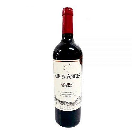 Vinho Tinto Argentino Sur De Los Andes Reserva Malbec 750ml