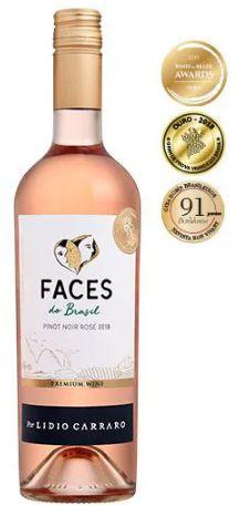 Vinho Rosé Brasileiro Lidio Carraro Faces Pinot Noir 750ml
