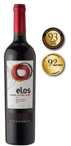 Vinho Tinto Brasileiro Lidio Carraro Elos  Cabernet Sauvignon  Malbec 750ml