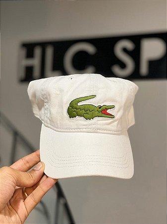 Lacoste Boné Big croc Branco