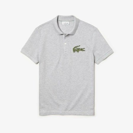 Lacoste Polo Magic croc cinza