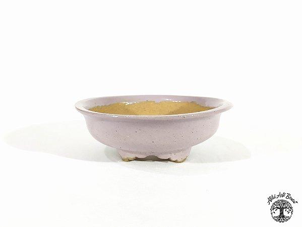Vaso Redondo Esmaltado  Lê Cerâmica 14x5cm