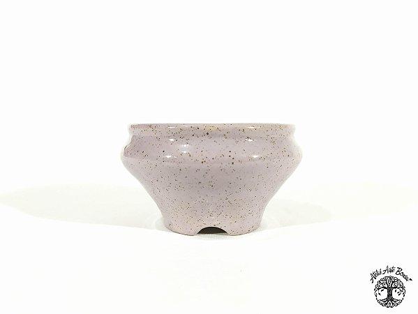 Vaso Redondo Esmaltado  Lê Cerâmica 10,5x6cm