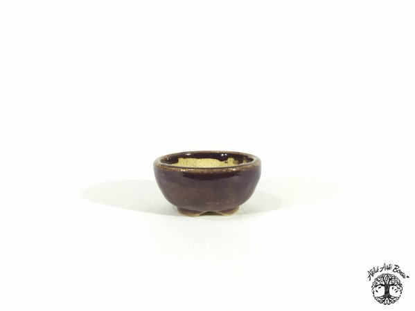 Vaso Redondo Esmaltado  Lê Cerâmica 6,5x3cm