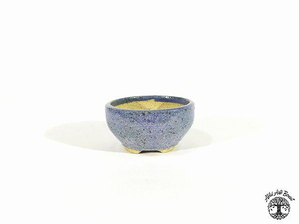 Vaso Redondo Esmaltado  Lê Cerâmica 6,5x3,5cm