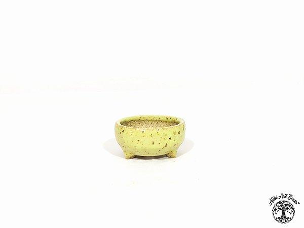 Vaso Redondo Esmaltado  Lê Cerâmica 5x3cm