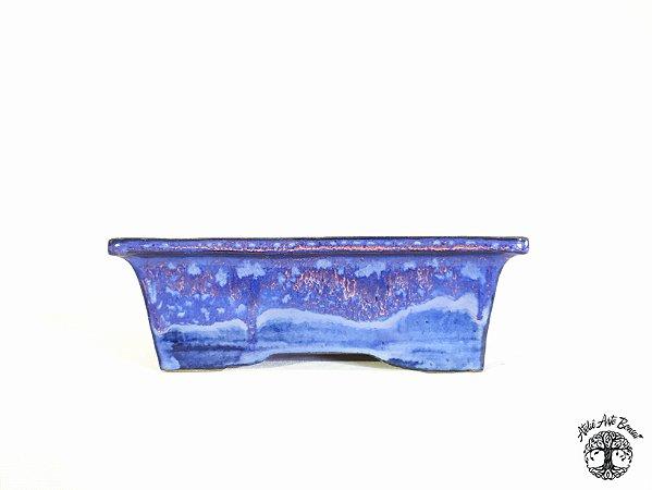 Vaso Retangular Esmaltado Sergio Onodera 21,2x15,5x7 cm