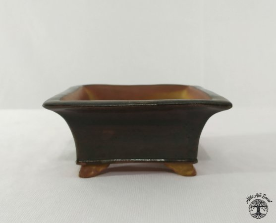Vaso Quadrado Esmaltado - Shugo Izumi 9x9x3,5cm