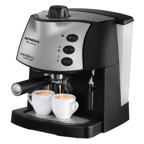 Maquina de Cafe Expresso - Cafeteira Expresso Mondial Coffee Cream C-08 Preta 15 Bar 127v