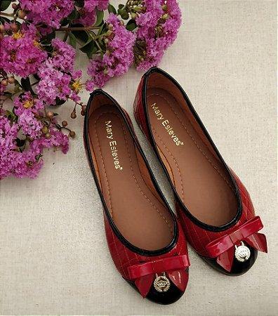 Sapatilha Vermelha Com Preto - Mary Esteves