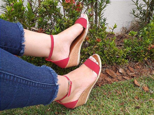 Sandália Vermelha fivela- Mary Esteves